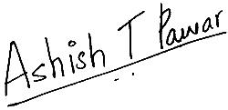 Ashish Pawar's Signature